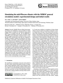 Simulating the Mid-pliocene Climate with... by Chan, W.-l.