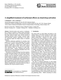 A Simplified Treatment of Surfactant Eff... by Raatikainen, T.