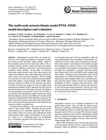The Multi-scale Aerosol-climate Model Pn... by Wang, M.