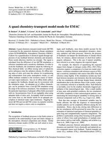 A Quasi Chemistry-transport Model Mode f... by Deckert, R.