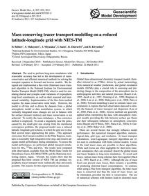 Mass-conserving Tracer Transport Modelli... by Belikov, D.