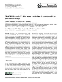 Geoclim Reloaded (V 1.0): a New Coupled ... by Arndt, S.
