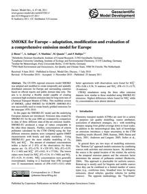 Smoke for Europe – Adaptation, Modificat... by Bieser, J.