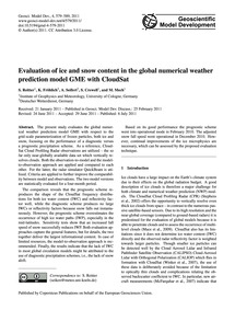Evaluation of Ice and Snow Content in th... by Reitter, S.