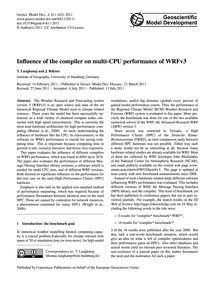 Influence of the Compiler on Multi-cpu P... by Langkamp, T.
