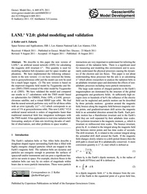 Lanl*V2.0: Global Modeling and Validatio... by Koller, J.