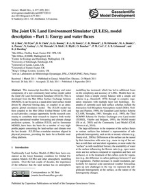 The Joint Uk Land Environment Simulator ... by Best, M. J.