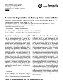 A Community Diagnostic Tool for Chemistr... by Gettelman, A.
