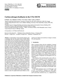 Carbon-nitrogen Feedbacks in the Uvic Es... by Wania, R.