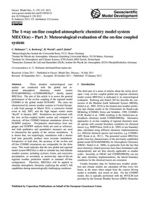 The 1-way On-line Coupled Atmospheric Ch... by Hofmann, C.