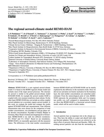 The Regional Aerosol-climate Model Remo-... by Pietikäinen, J.-p.