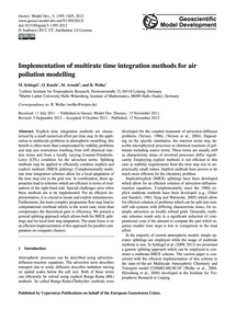 Implementation of Multirate Time Integra... by Schlegel, M.