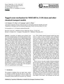 Tagged Ozone Mechanism for Mozart-4, Cam... by Emmons, L. K.