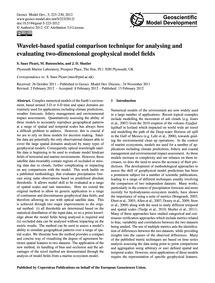 Wavelet-based Spatial Comparison Techniq... by Saux Picart, S.