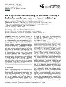 Use of Agricultural Statistics to Verify... by Calvet, J.-c.