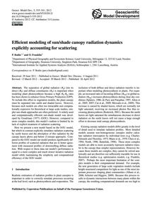 Efficient Modeling of Sun/Shade Canopy R... by Bodin, P.