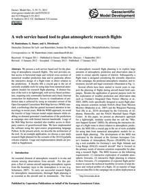 A Web Service Based Tool to Plan Atmosph... by Rautenhaus, M.