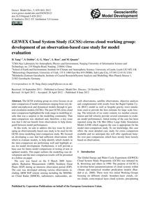 Gewex Cloud System Study (Gcss) Cirrus C... by Yang, H.
