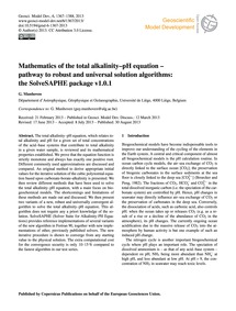 Mathematics of the Total Alkalinity–ph E... by Munhoven, G.