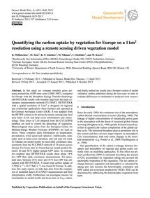 Quantifying the Carbon Uptake by Vegetat... by Wißkirchen, K.