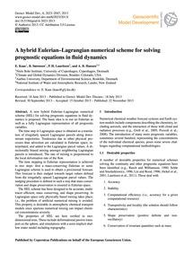 A Hybrid Eulerian–lagrangian Numerical S... by Kaas, E.