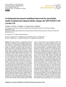 An Integrated Assessment Modeling Framew... by Monier, E.