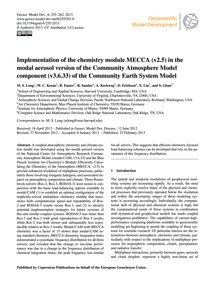 Implementation of the Chemistry Module M... by Long, M. S.