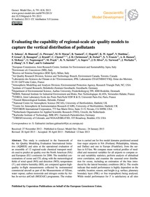 Evaluating the Capability of Regional-sc... by Solazzo, E.