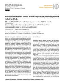 Reallocation in Modal Aerosol Models: Im... by Korhola, T.