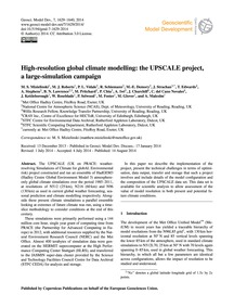 High-resolution Global Climate Modelling... by Mizielinski, M. S.