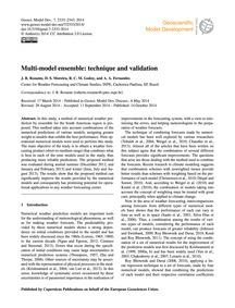 Multi-model Ensemble: Technique and Vali... by Rozante, J. R.