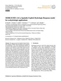 Sehr-echo V1.0: a Spatially Explicit Hyd... by Schaefli, B.