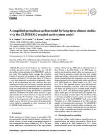 A Simplified Permafrost-carbon Model for... by Crichton, K. A.