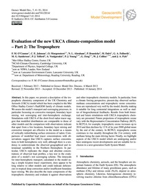 Evaluation of the New Ukca Climate-compo... by O'Connor, F. M.