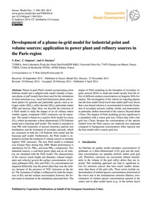 Development of a Plume-in-grid Model for... by Kim, Y.