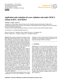 Application and Evaluation of a New Radi... by Zhang, H.