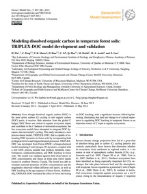 Modeling Dissolved Organic Carbon in Tem... by Wu, H.