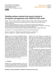 Modelling Methane Emissions from Natural... by Zhu, Q.