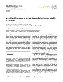 A Stabilized Finite Element Method for C... by Brinkerhoff, D.