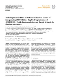 Modelling the Role of Fires in the Terre... by Yue, C.