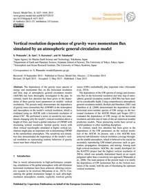 Vertical Resolution Dependence of Gravit... by Watanabe, S.