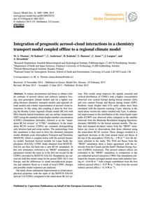 Integration of Prognostic Aerosol–cloud ... by Thomas, M. A.