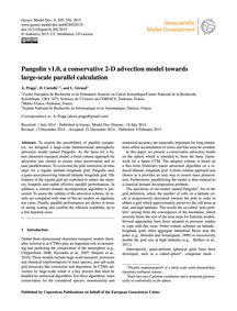 Pangolin V1.0, a Conservative 2-d Advect... by Praga, A.