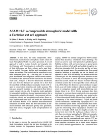 Asam V2.7: a Compressible Atmospheric Mo... by Jähn, M.