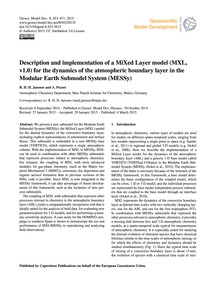 Description and Implementation of a Mixe... by Janssen, R. H. H.