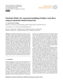 Firedrake-fluids V0.1: Numerical Modelli... by Jacobs, C. T.