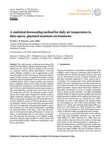 A Statistical Downscaling Method for Dai... by Hofer, M.