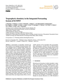 Tropospheric Chemistry in the Integrated... by Flemming, J.