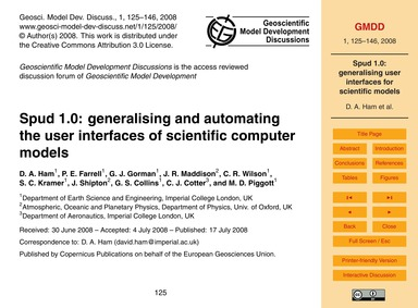 Spud 1.0: Generalising and Automating th... by Ham, D. A.