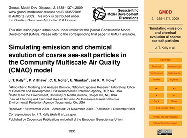 Simulating Emission and Chemical Evoluti... by Kelly, J. T.